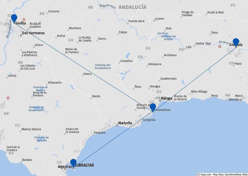 Standortrundreise Andalusien Torremolinos 3°